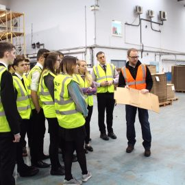 UTC Swindon student visit to GWP Packaging
