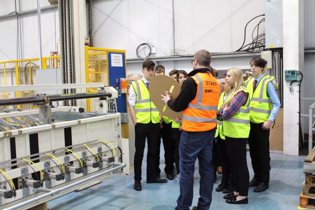Students from UTC Swindon visiting GWP Packaging