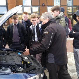 Students learn car maintenance with Kwik Fit