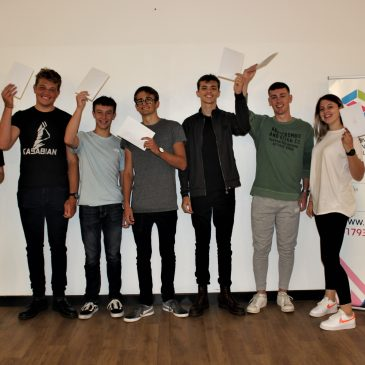 Post 16 students celebrate their exam results!
