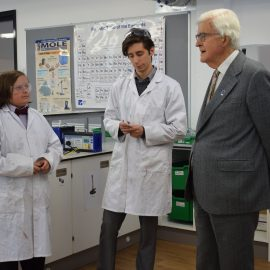 Education pioneer Lord Baker returns to UTC Swindon