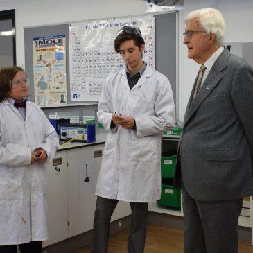 Education pioneer Lord Baker returns to UTC Swindon