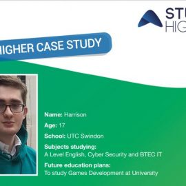 Year 13 student, Harrison, discusses the impact of working with Study Higher