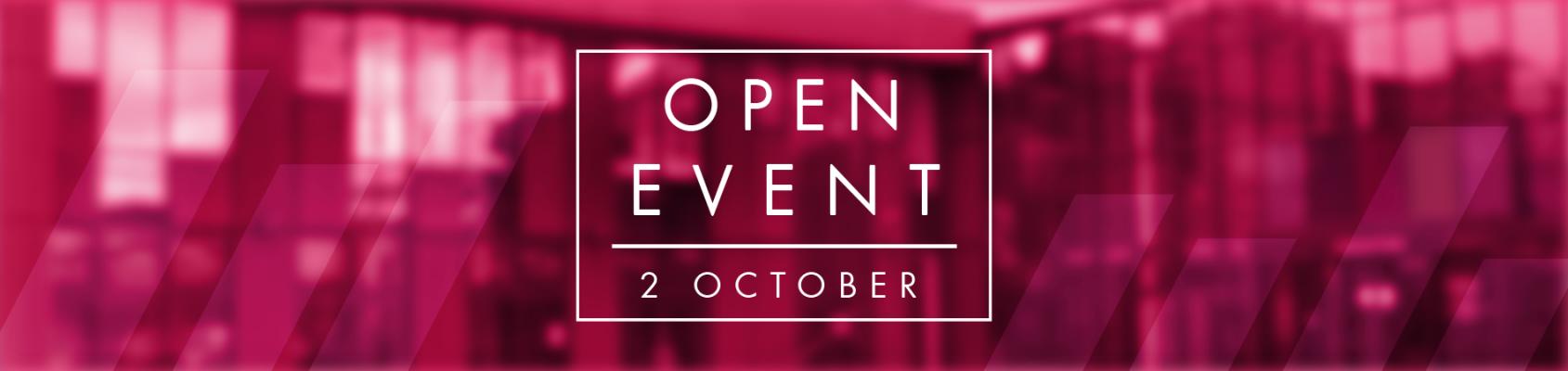 Open Event October 2