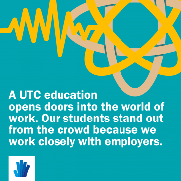 A UTC education opens doors into the world of work. Our students stand out from the crowd because we work closely with employers.